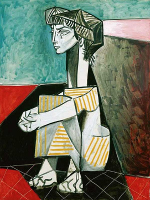 Pablo Picasso. Jacqueline with crossed hands