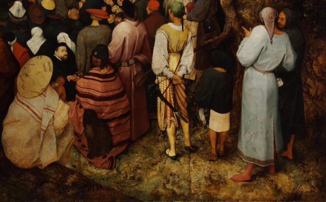 Питер Брейгель Младший. Проповедь святого Иоанна Крестителя. Фрагмент 3. Крестьяне