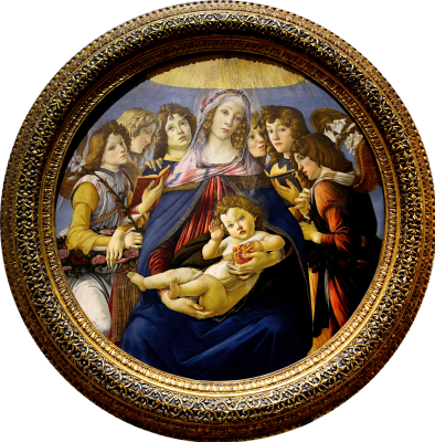 Sandro Botticelli. Madonna with the pomegranate (Madonna della Melagrana)