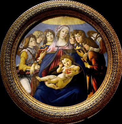 Sandro Botticelli. Madonna with the pomegranate (Madonna della Melagrana)