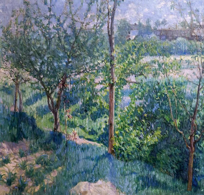 Михаил Федорович Ларионов. Сад весной (Весенний пейзаж)