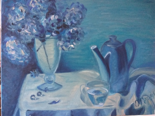 Olga Germiseeva. Blue still life