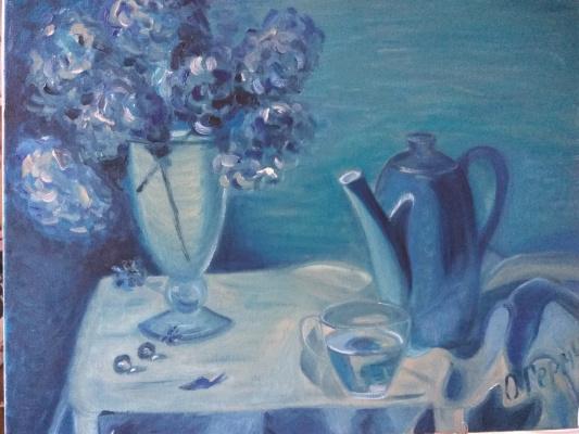Olga Hermiseeva. Blue still life
