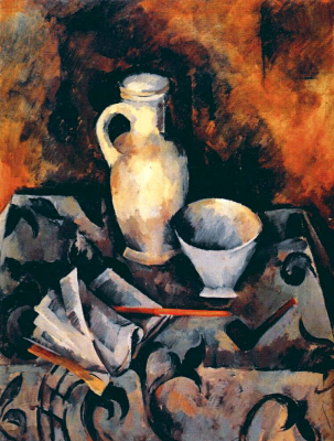 Alexander Alexandrovich Osmyorkin. Still life with a white bowl.