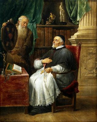 Давид Тенирс Младший. Портрет гентского епископа Антония Триста и его брата