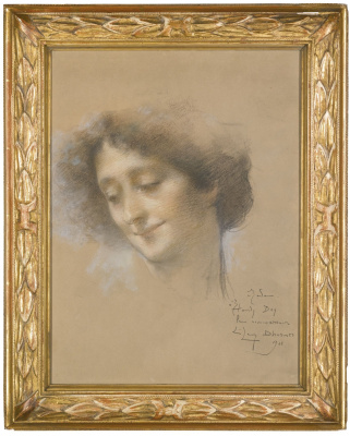 Lucien Levi-Durme. Portrait of a lady, presumably Madame Hamdi
