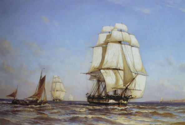 "Александр Карлович Беггров. Фрегат ""Меркурий"" 1879"