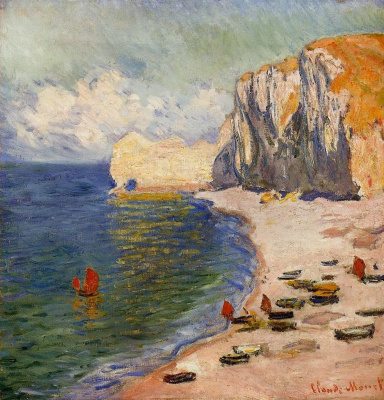 Claude Monet. The coast and the Falaise d amont