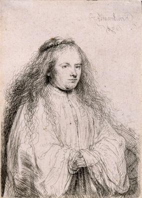 Рембрандт Харменс ван Рейн. Маленькая еврейская невеста (Портрет Саскии)
