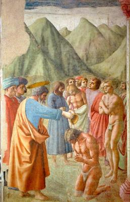 Томмазо Мазаччо. Крещение неофитов