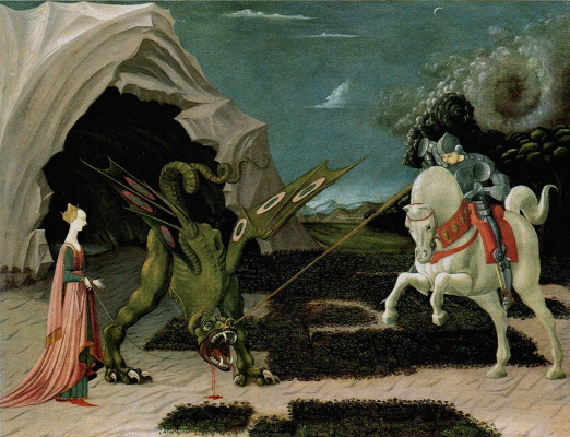 Paolo Uccello. The battle of St. George with the dragon