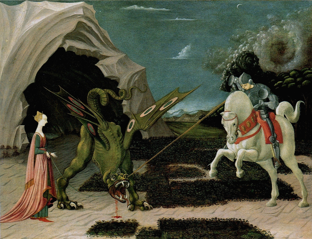 Паоло Уччелло. Битва святого Георгия с драконом