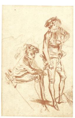 Antoine Watteau. TWO ACTORS