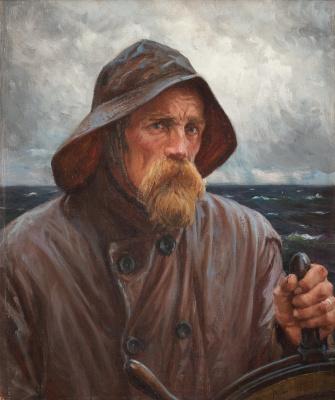 Альберт Густав Аристид Эдельфельт. Лоцман - Моряк.  Из Уусимаа. 1894