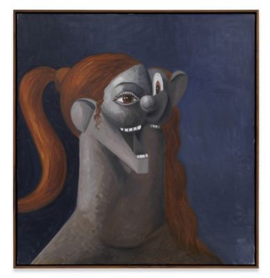 George Condo. Laughing girl