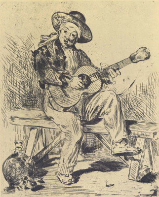 Edouard Manet. Guitarist