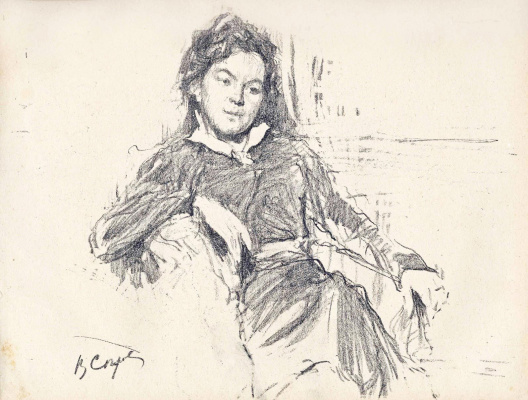 Valentin Aleksandrovich Serov. Portrait of the artist A. P. Ostroumova-Lebedeva