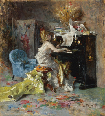 Giovanni Boldini. Woman at the piano