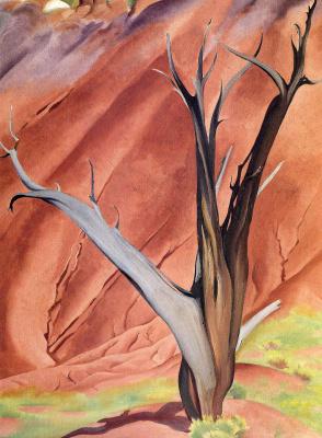 Georgia O'Keeffe. A dry tree