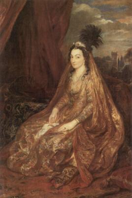 Антонис ван Дейк. Портрет Элизабет или Терезии Ширли в восточной одежде