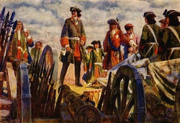 Евгений Евгеньевич Лансере. Полтавская битва