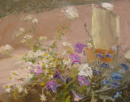 Elena Valyavina. Flowers with a jug (org.m, x,