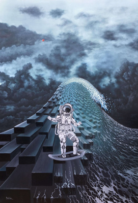 Beklan Kizilcay. Surfing in space