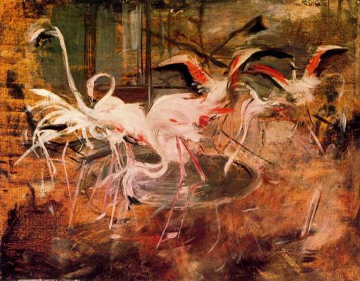 """Giovanni Boldini. """"Pink Palace"""". Ibis del palazzo roza in vesinet"""
