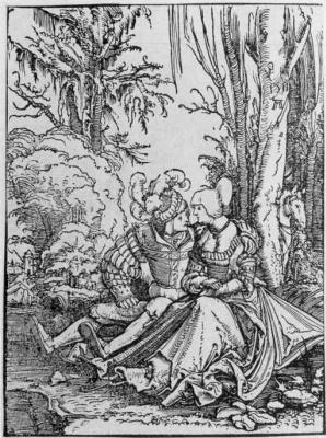 Albrecht Altdorfer. Love couple in the woods