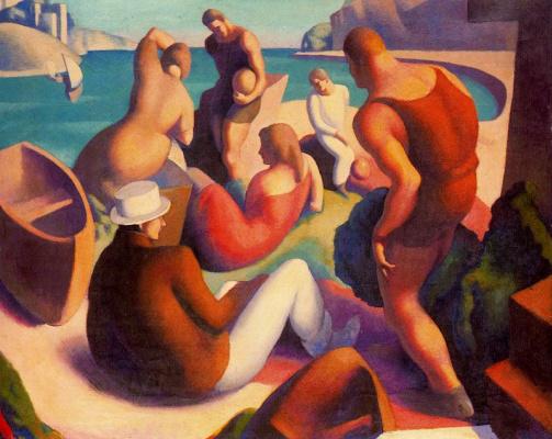 Thomas Hart Benton. Beach