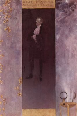 Gustav Klimt. Portrait of the actor Josef Lewinsky in the role of don Carlos