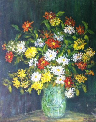 Rita Arkadievna Beckman. Chrysanthemums autumn ball