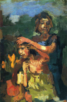 Oskar Kokoschka. Two children
