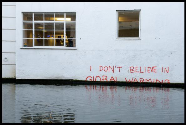 Banksy. I do not believe in global warming