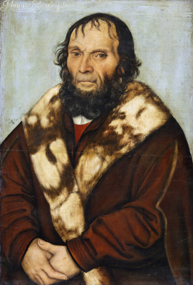Lucas Cranach the Elder. Portrait of Magdeburg theologian Dr. Johannes schöner of
