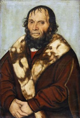 Lucas Cranes the Elder. Portrait of Magdeburg theologian Dr. Johannes schöner of