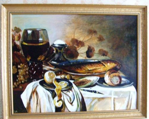 Анатолий Мурзаев. Завтрак Питера Клааса копия