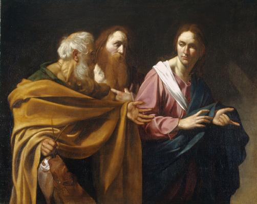 Микеланджело Меризи де Караваджо. Призвание святых Петра и Андрея