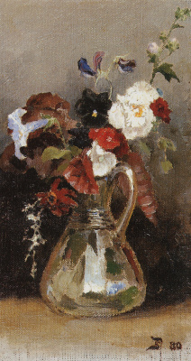 Vasily Dmitrievich Polenov. A bouquet of flowers