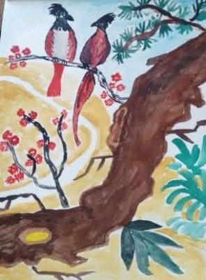 Irina Alexandrovna Sokolova. Two parrots