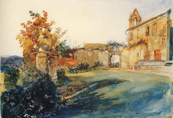 John Ruskin. Garden of San Miniato near Florence