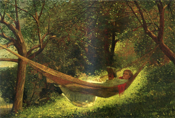 Winslow Homer. The girl in the hammock