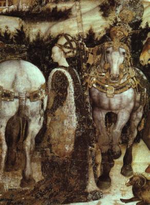 Antonio Pisanello. Saint George and the Princess of Trebizond