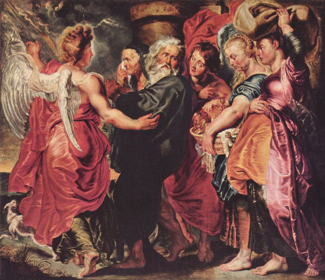 Peter Paul Rubens. Lot and his family leaving Sodom