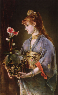 Alfred Emil-Leopold Stevens. Female portrait (Amatori)
