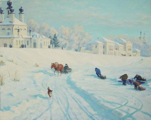 Igor Lemekhov. Great Ustyug. Winter embankment.