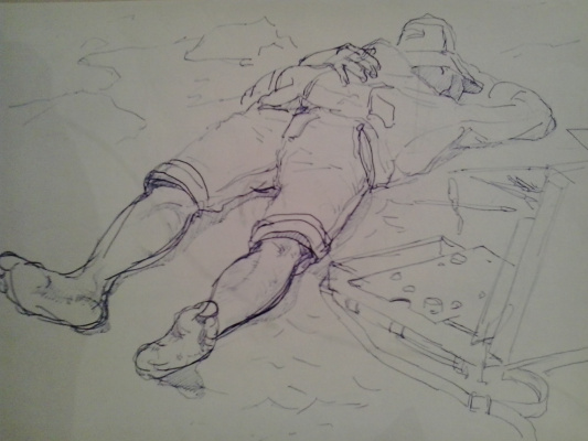 DANIAR JOLDOSHBEKOV. Лежащий парень