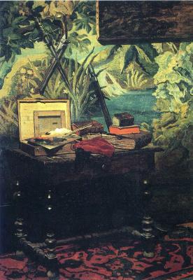 Claude Monet. Studio area