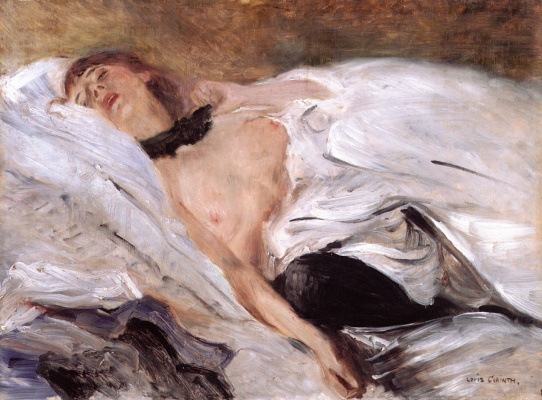 Lovis Corinto. Sleeping girl