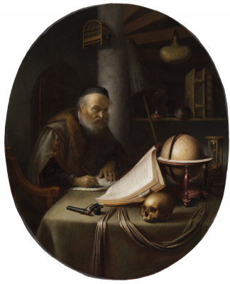 Gerrit (Gerard) Dow. Scientist, interrupted letter
